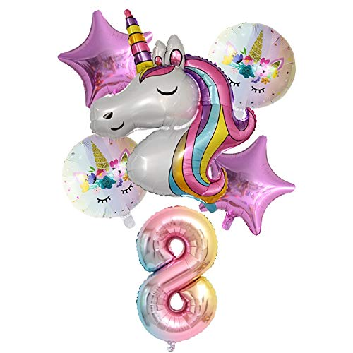 XINGYAO Balloon Balloons Birthday Party Decorations Kids Ball baby shower 32inch Number Unicorn Party Foil Balloons (Color : Dark Gray)