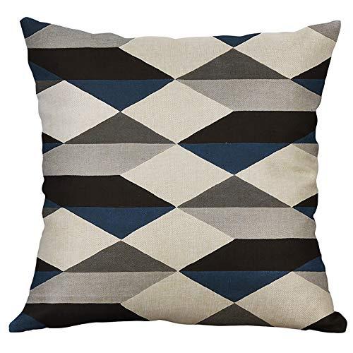 Zimuuy,Housse de Coussin taie d'oreiller câlin Motif géométrique irrégulier 40X40cm pour Sofa de Voiture à la Maison(Taille Unique,D)