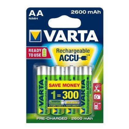 2 X Varta Rechargeable Accu Ready2Use AA Mignon Ni-Mh Akku (4-er Pack, 2600 mAh)