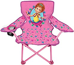 Jakks Pacific Fancy Nancy Camp Chair for Kids, Portable Camping Fold N Go Chair with Carry Bag