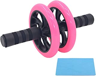 JRZDFXS Ab Roller Wheel Pink Abdominal Exercise for Women Core Workout Equipment Abdominal Exercise Equipment