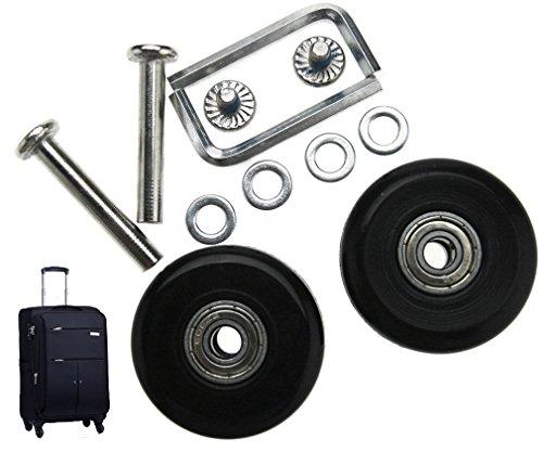 Gepäck- und Koffer-Ersatzrollen, Außen-Durchmesser 50mm, Innen-Durchmesser 6mm, Breite 18mm, Achsen 35mm, Reparatur-Set [HRUS]