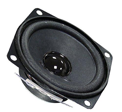 Visaton VS-FR7/4 luidspreker (bekabeld, 5 W, 130-20.000 Hz, 4 Ohm, zwart)