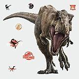 wall decals amazon - RoomMates Jurassic World: Fallen Kingdom T-Rex Giant Peel and Stick Wall Decals , Brown, Orange, Black - RMK3797SLM