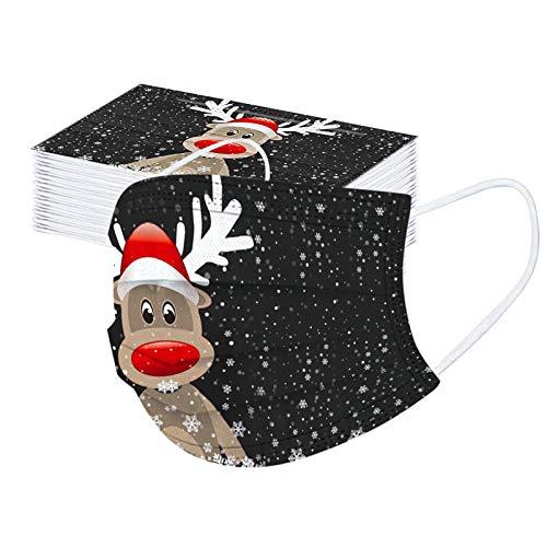 SicongHT Mund und Nasenschutz, Weihnachts 30 Stück Einmal-Mundschutz 3-lagige Spaß...