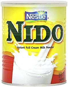 Nestlé Nido Leche en Polvo Entera - Crema Instantánea para Bebidas de Café y Té con Vitaminas y Minerales Añadidos y Sin Conservantes ni Colorantes - Lata de 400 g
