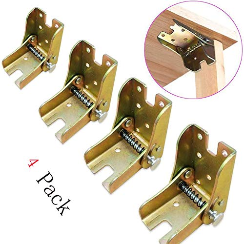 Foldable Support Bracket-Self-Locking Hinge- Leg Fittings and Corner Brace- for Folding Legs|Folding Workbench|Fold Down Desk Extension in Kitchen|Laundry Room Garage|Boat|Bed|Table|Furniture| RV (4)