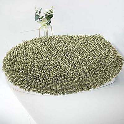 MAYSHINE Seat Cloud Bath Washable Shaggy Microfiber Toilet Lid Covers for Bathroom -Sage Green