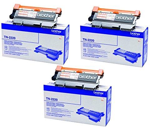 Brother TN2220 Toner Cartridge, Triple Pack je mit 2600 Seiten