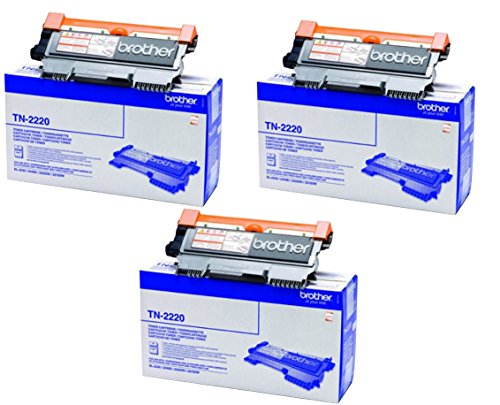 Brother TN2220 Toner Cartridge, Triple Pack je mit 2600 Seiten