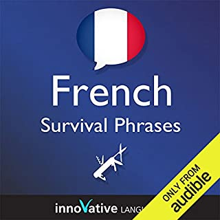 Learn French - Survival Phrases French, Volume 1: Lessons 1-30 audiobook cover art