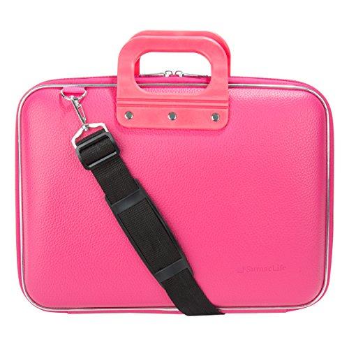 SumacLife Cady Magenta Pink Messenger Bag Carrying Case for 14' Razer Blade Gaming Laptop / Razer Blade Stealth 13.3'