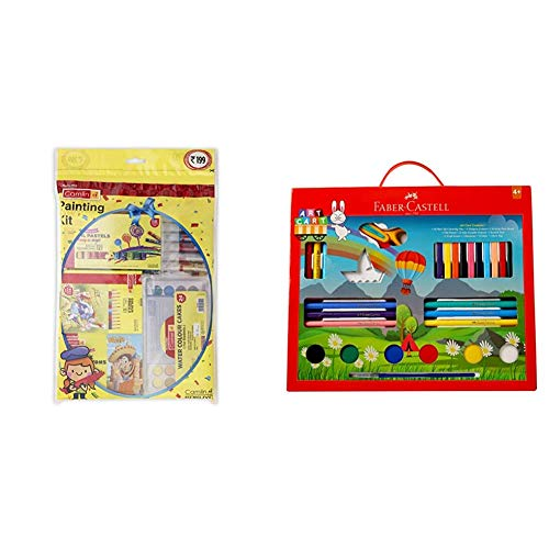 Camel 9900504 Colouring Kit Combo 199 & Faber-Castell Art Care Kit with Paint Brush(Multicolor)