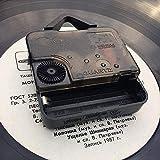 XYVXJ Reloj de Pared de Vinilo Rockabilly Reloj de Pared 3D Reloj de Pared de Vinilo Reloj de Disco de Vinilo Arte de la Pared Decoración de habitación única Regalos Hechos a Mano
