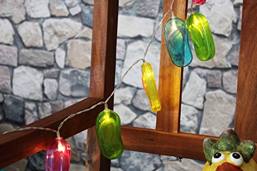 Kamaca LED Party - Lichterkette PARTYLIGHTS mit 10 warm weissen LED Lichtern - batteriebetrieben, für den Innen - Bereich geeignetet (Flipflops)