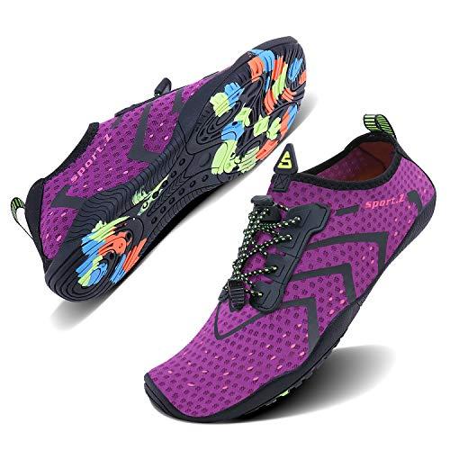 WXDZ Men and Women Barefoot Skin Aqua Shoes Water Shoes for Beach Pool