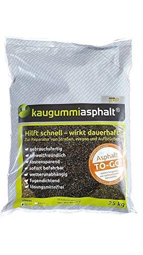 25 kg Kaltasphalt Kaltmischgut Reparaturasphalt Bitumen [1,36 EUR/kg]