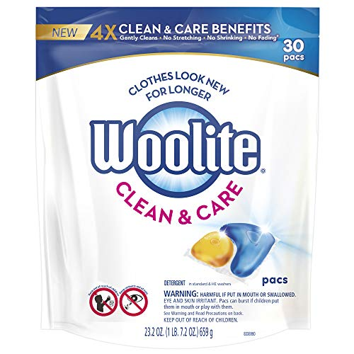 Woolite Clean & Care Pacs, Laundry Detergent Pacs, 30 Count,...