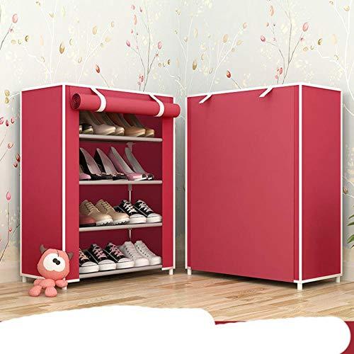 Simple Multi capas zapatero tela no tejida zapatos organizador rack sala re estilo moderno DIY zapato gabinete-vino rojo 3L