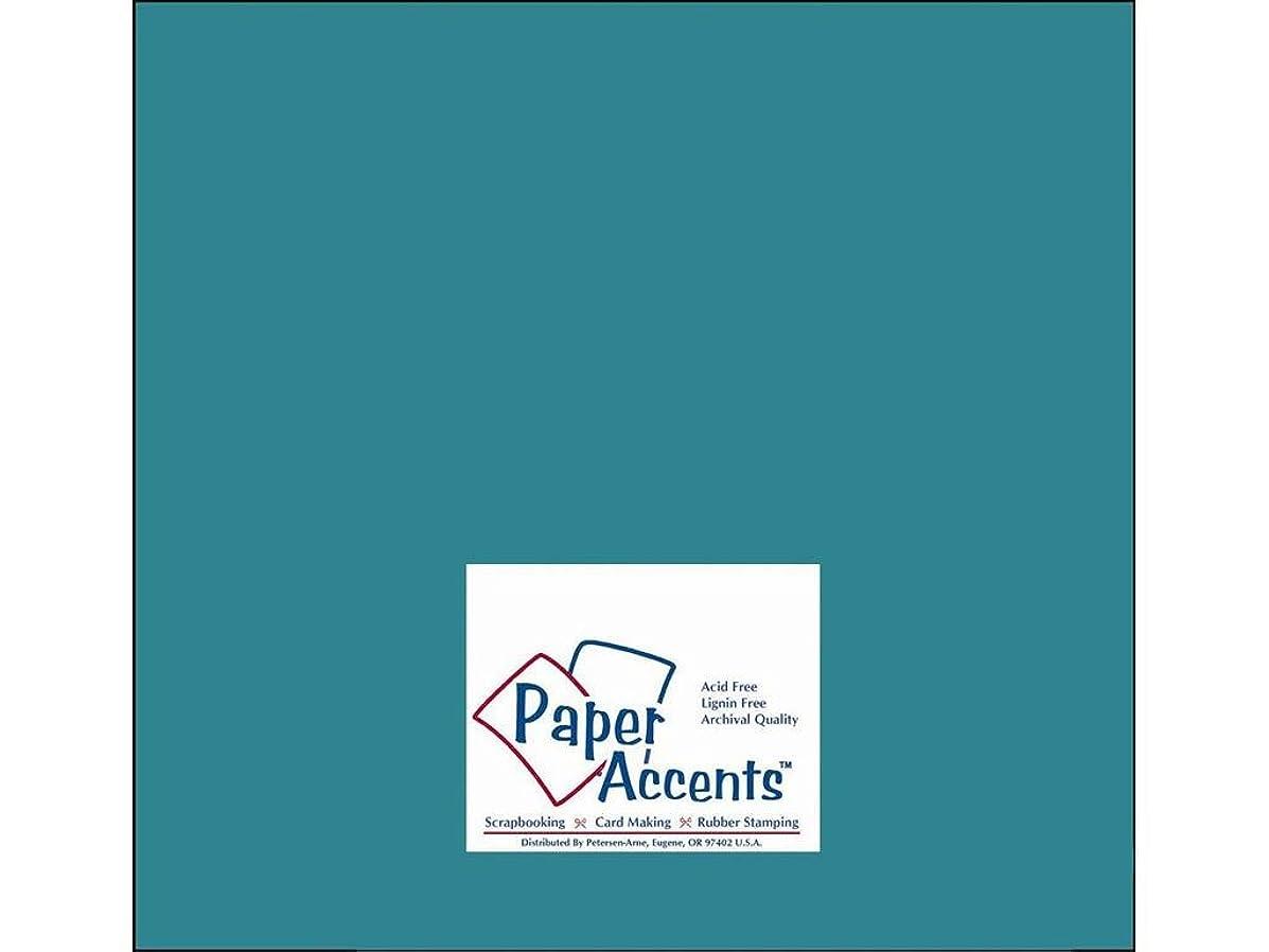 Accent Design Paper Accents ADPaperStash12x12Lagoon Cdstk Stash Builder 12x12 60# Lagoon