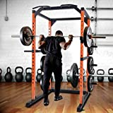 Merax Weight Cage Power Rack 1000 LBS Weight Capacity Weight Cage...