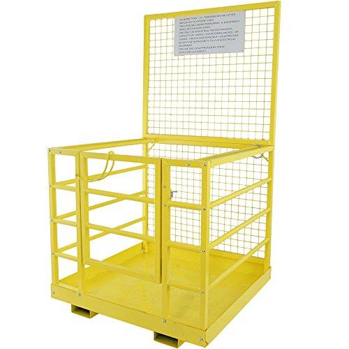 Titan Attachments Forklift Safety Cage Work Platform Heavy Duty Basket Aerial Lift Fence Rails 45