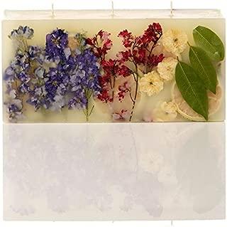 Rosy Rings Brick Botanical Candle - Roman Lavender