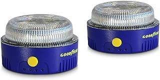 Goodyear Luz de Emergencia Coche y Linterna. Safety Light v16. LED, homologada por la DGT. Base imantada. Diseñado en Espa...