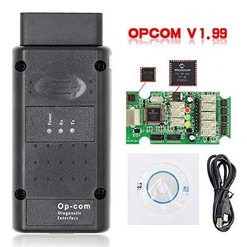 Dispositivo de diagnóstico de fallas coche OPCOM 2014V V1.99 Herramienta de prueba de diagnóstico de camiones diesel NEXIQ2 USB Link Prueba de diagnóstico de fallas NEXIQ con Bluetooth USB para Opel