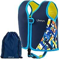 Limmys Chaleco de Natación de Neopreno de la Marca Premium para Niños, Flotador para el Aprendizaje de la Natación Ideal para Niños, Incluye una Bolsa con Cordón Extra (Small)