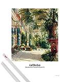 1art1 Carl Blechen Poster (91x61 cm) Palmenhaus Auf Der