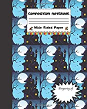 Composition Notebook Wide Ruled Paper: Creepy haunted House Notebook - Scary Halloween Monsters Themed Journal - Fun Gift for Girls Boys Teens ... for Work or School. Trick or Treat Edition