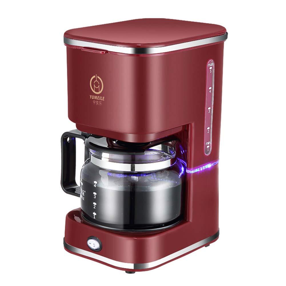 Filtro De La Máquina De Café, Mini Cafetera Estadounidense Programable, 750 Ml (5 Tazas), Aislamiento Automático De 1 Hora, Embudo Extraíble Para Facilitar La Limpieza (negro, Rojo, Rosa)(Red): Amazon.es: Jardín