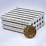 Oblique-Unique® Neodym Magnet 8x3 mm 100 Stück Magnete Extrem Stark