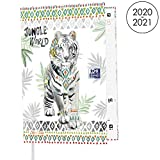 OXFORD Agenda Scolaire Boho Chic 2020 - 2021 Format 12x18cm Journalier 352 Pages Couverture Motif Tigre
