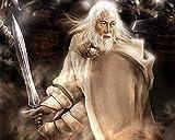 TTbaoz Rompecabezas 1000 para Adultos Piezas Piezas Marvel Adultos Imposibles Rompecabezas (38 * 26 cm) El Señor de los Anillos Espadachín Blanco