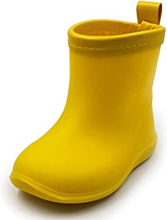 Kids Rain Boots Toddler Shoes Easy-on Lightweight