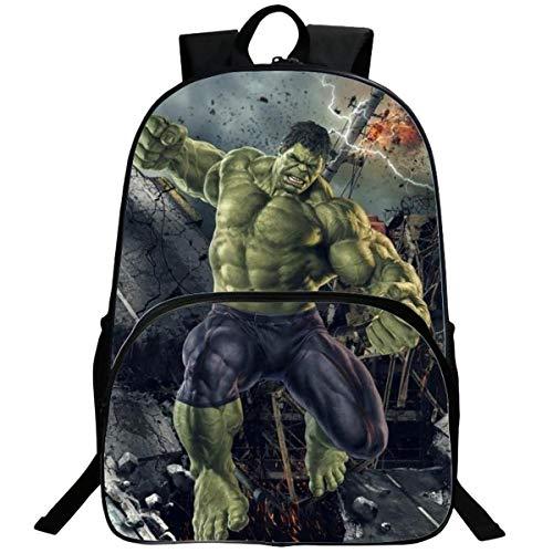 WNUVB Mochila De Impresión 3D De Poliéster 3D De Hulk HAO K para Niños Bolsa De...
