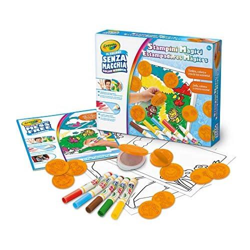 CRAYOLA-Color Wonder Set Stampini Magici, con Inchiostro Trasparente Senza Macchia, per Gioco e Regalo, 06-7490