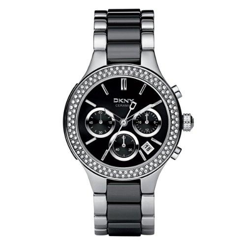 DKNY Damen-Armbanduhr Chronograph Quarz Verschiedene Materialien NY8180