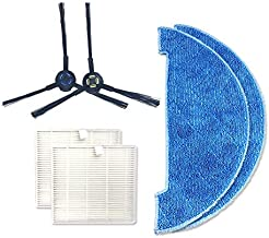 Household Articles XI273 1 Pair I258 Side Brush + 2 PCS I206 Filter + I262 Cleaning Rag for ILIFE V8S Household Articles