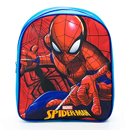Characters Cartoons - Bambino Bambina Zaino Zainetto Asilo Bing LOL Surprise! Frozen Avengers Ladybug Spiderman Disney Marvel 44 Gatti [Spiderman Azzurro]