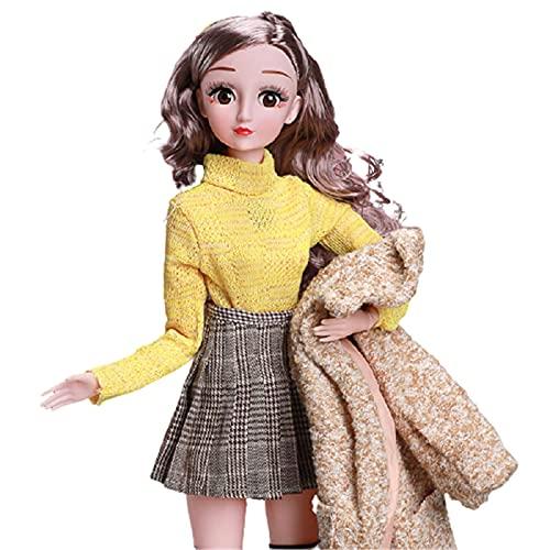 XIAOHAO La Princesa Linda Juega un Vestido Exquisito + un Buen Cuidado del Cabello niña Princesa de 60 CM A2
