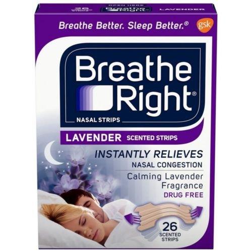 Breathe Right Scented Nasal Strips, Lavender 26 strips