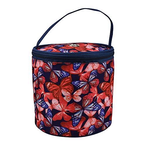 oukesin Bolsa de punto de lana, bolsa para agujas de ganchillo, diseño de mariposas