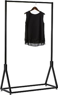 MissZZ Porte-Manteau Porte-vêtements Standard, Porte-vêtements en métal Noir, présentoir de vêtements de Boutique Moderne,...