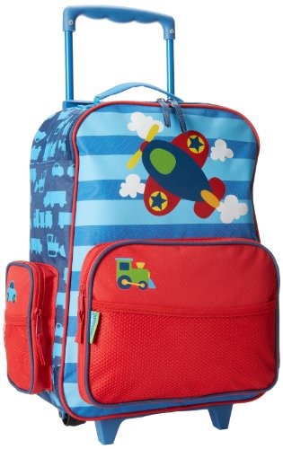 Stephen Joseph boys Airplane Stephen Joseph Classic Rolling Luggage, Airplane, 14.5 x 6.5 18 US