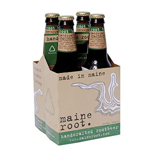 Maine Root Soda Root Beer Sweeten, 48 fl oz, 4 ct