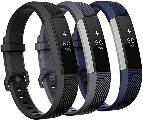 Kit de 3 Pulseiras de relógio para Fitbit Alta and Fitbit Alta HR de Silicone