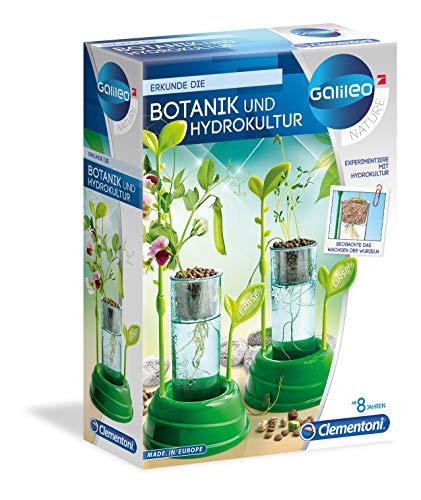 Clementoni 59065 Galileo Nature – Botanik und Hydrokultur, Pflanzkasten & Samen für Mini-Gärtner, Spielzeug für Kinder ab 8 Jahren, spannendes Gewächshaus für Zuhause